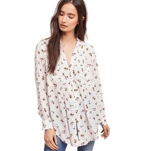 Anthropologie Maeve Matilda Mushroom blouse Small